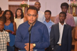 Christopher Jefferson, a senior at the University of Michigan and member of the church I pastor, the Plymouth United Church of Christ in Detroit