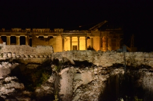 The Acropolis at  night - Athens, Greece
