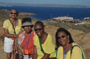 Cheryl Childress, Brenda McGAdney, Mildred  and  Wanda Williams in Greece