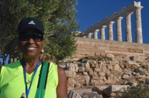 Equilla Wainwright at the  Temple of Poseidon