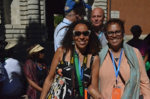 Sisters, Teri Page Bennett and Denise Page Hood in Rome, Italy