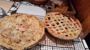 Apple and  Peach-Berry Pies, prepared by LIsa Brand, MD