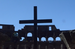 The Cross in the inner ring of the Roman Colisieum