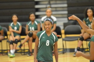 Courtnie Thomas in her championship volleyball game - Detroit Public Schools, Michigan (Cass Technical High School)