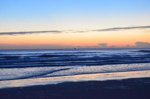 Sunrise on the Atlantic Ocean at Port Orange, Fl