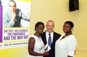 With Ameena and Amani Shaheed during the book signing after worship
