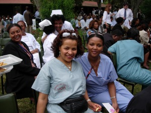 Ethiopian Nurses who assist Dr. Ingida Asfaw and the Ethiopian North American Health Professions Association