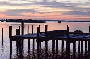 Sunrise over the Port Orange, Florida River