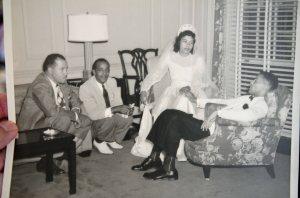 My dad and mom, Elizabeth Hood on their wedding day